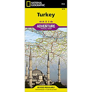 National Geographic Turkey Adventure Map