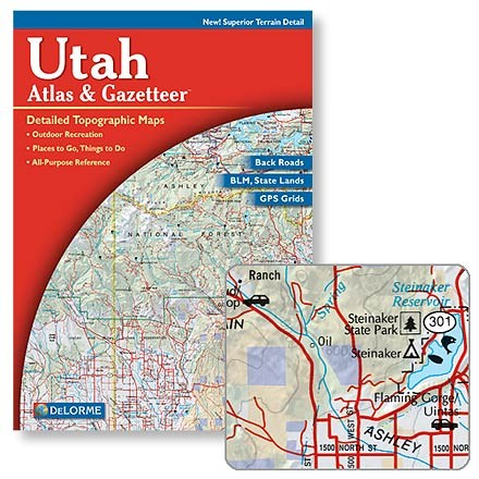 photo: DeLorme Utah Atlas & Gazetteer us mountain states paper map