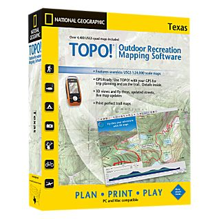 National Geographic TOPO! Texas CD-ROM