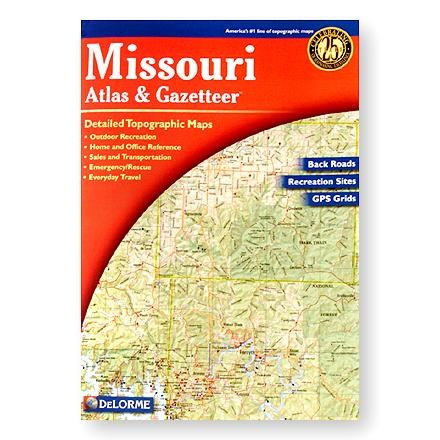 photo: DeLorme Missouri Atlas and Gazetteer us midwest paper map