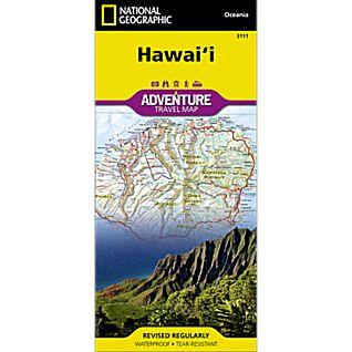 National Geographic Hawaii Adventure Map