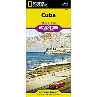 National Geographic Cuba Adventure Map