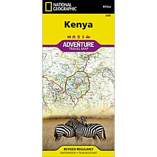 National Geographic Kenya Adventure Map