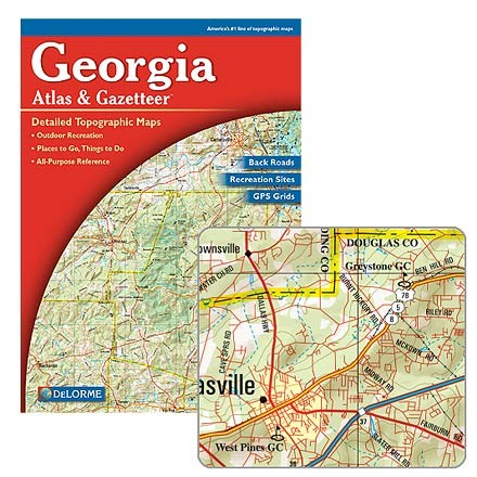 photo: DeLorme Georgia Atlas and Gazetteer us south paper map