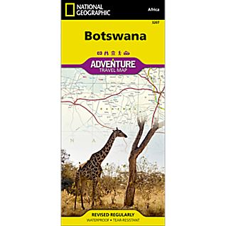 National Geographic Botswana Adventure Map