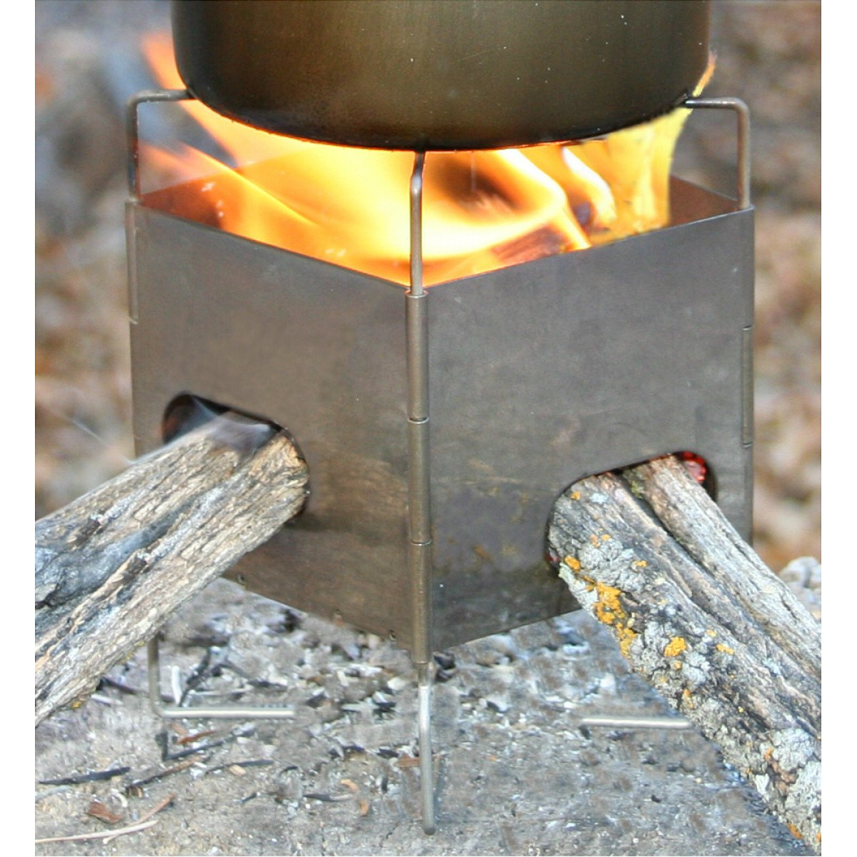 photo: Firebox Gen2 Titanium Folding Firebox Nano wood stove