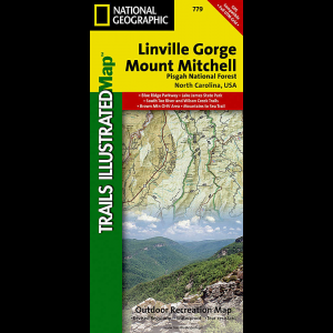 photo: National Geographic Linville Gorge/Mount Mitchell Map - Pisgah National Forest us south paper map