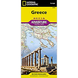 National Geographic Greece Adventure Map