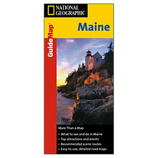 National Geographic Maine Map