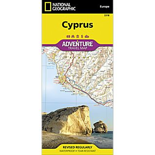 National Geographic Cyprus Adventure Map
