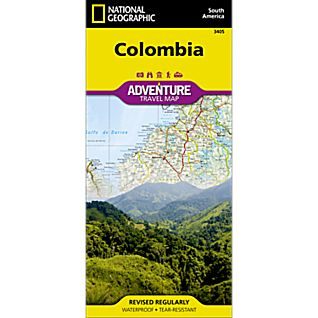 National Geographic Colombia Adventure Map