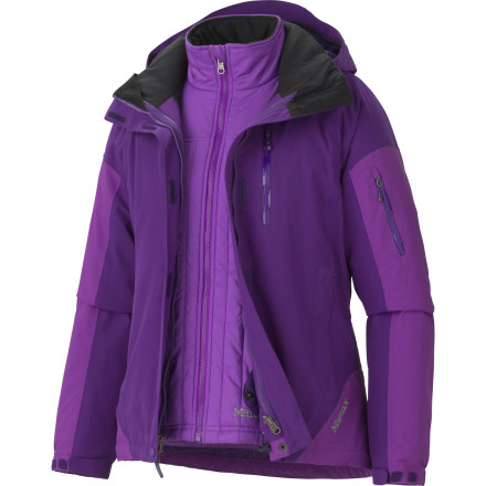 photo: Marmot Women's Tamarack Component Jacket component (3-in-1) jacket