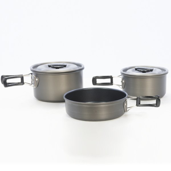 photo: Texsport Scouter Black Ice Hard Anodized Cook Set pot/pan