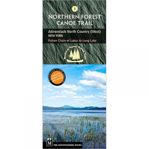 The Mountaineers Books Northern Forest Canoe Trail Map #1 - Adirondack North Country (West)
