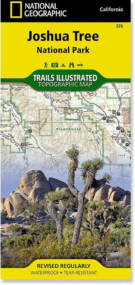 National Geographic Joshua Tree National Park Map