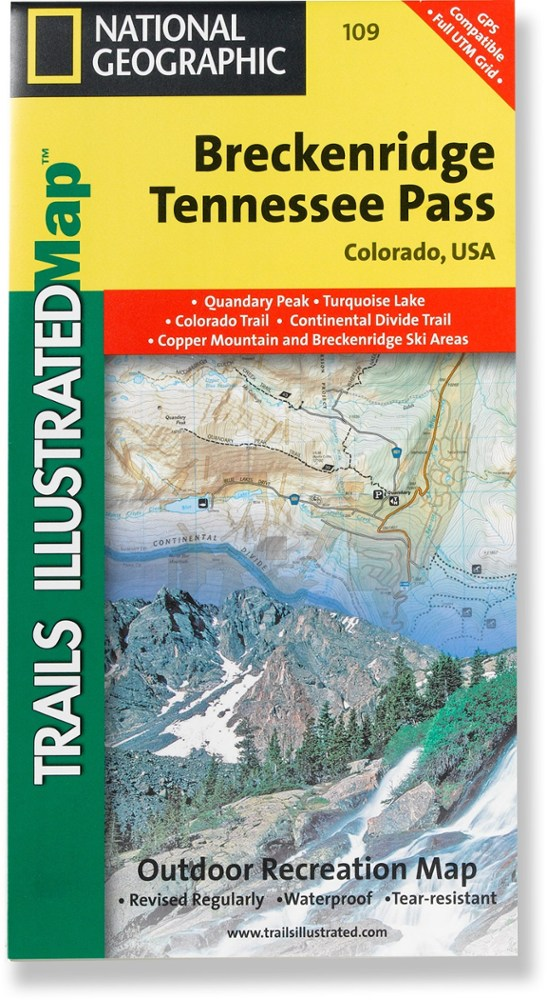 National Geographic Breckenridge/Tennessee Pass Trail Map