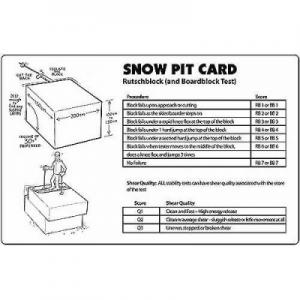 Life-Link Rutschblock Snow Pit Card
