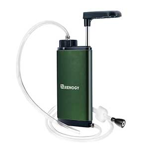 photo of a Renogy pump/gravity water filter