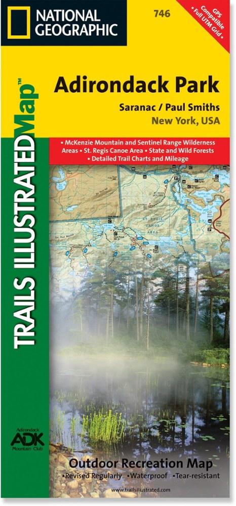 National Geographic Saranac/Paul Smiths Map - Adirondack National Park