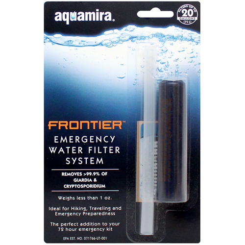 photo of a Aquamira bottle/inline water filter