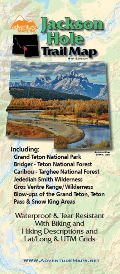 photo: Adventure Maps Jackson Hole Trail Map us mountain states paper map