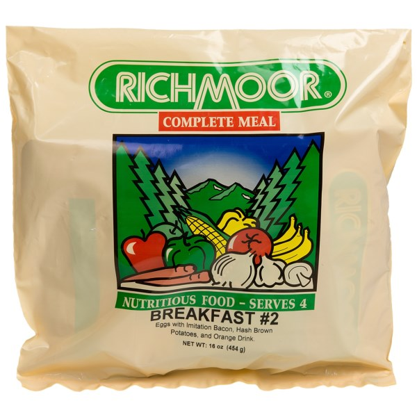 Richmoor Breakfast #2 - Eggs, Bacon, Hash Brown Potatoes, & Orange Drink