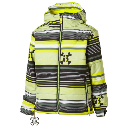 photo: Paul Frank Stripe Puffy Jacket snowsport jacket