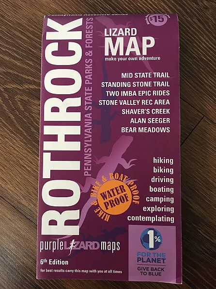 Purple Lizard Maps Rothrock State Forest Trail Map