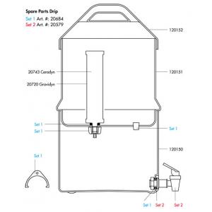Katadyn Drip TRK Filter Small Parts Kit