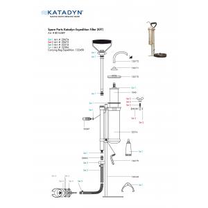 Katadyn Expedition KFT Filter Small Parts Kit