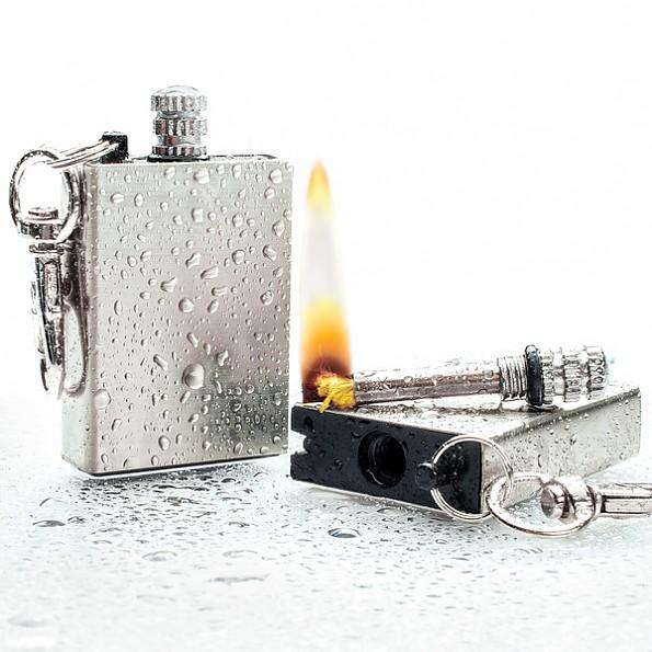 BudK Waterproof Permanent Match Survival Lighter