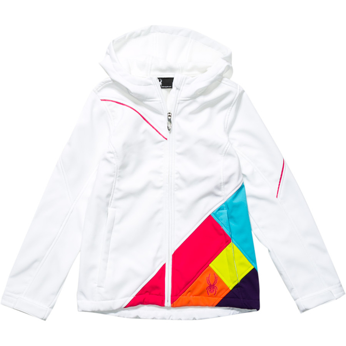 photo: Spyder Girls' Arc Hoody soft shell jacket