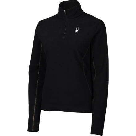 photo: Spyder Women's Speed 100 1/4 Zip long sleeve performance top