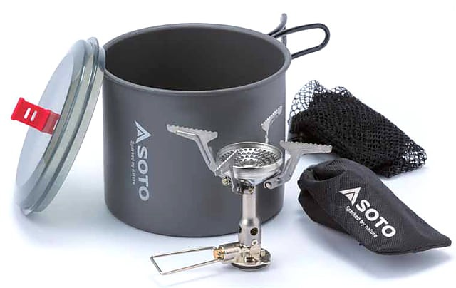 photo: Soto New River Pot + Amicus with Igniter compressed fuel canister stove