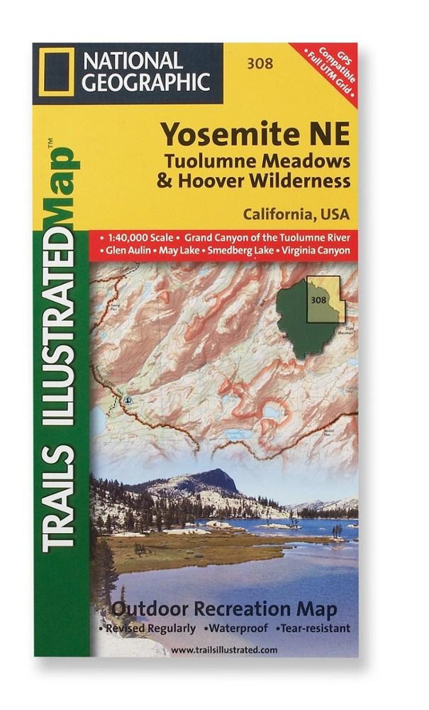 National Geographic Yosemite NE - Tuolumne Meadows and Hoover Wilderness