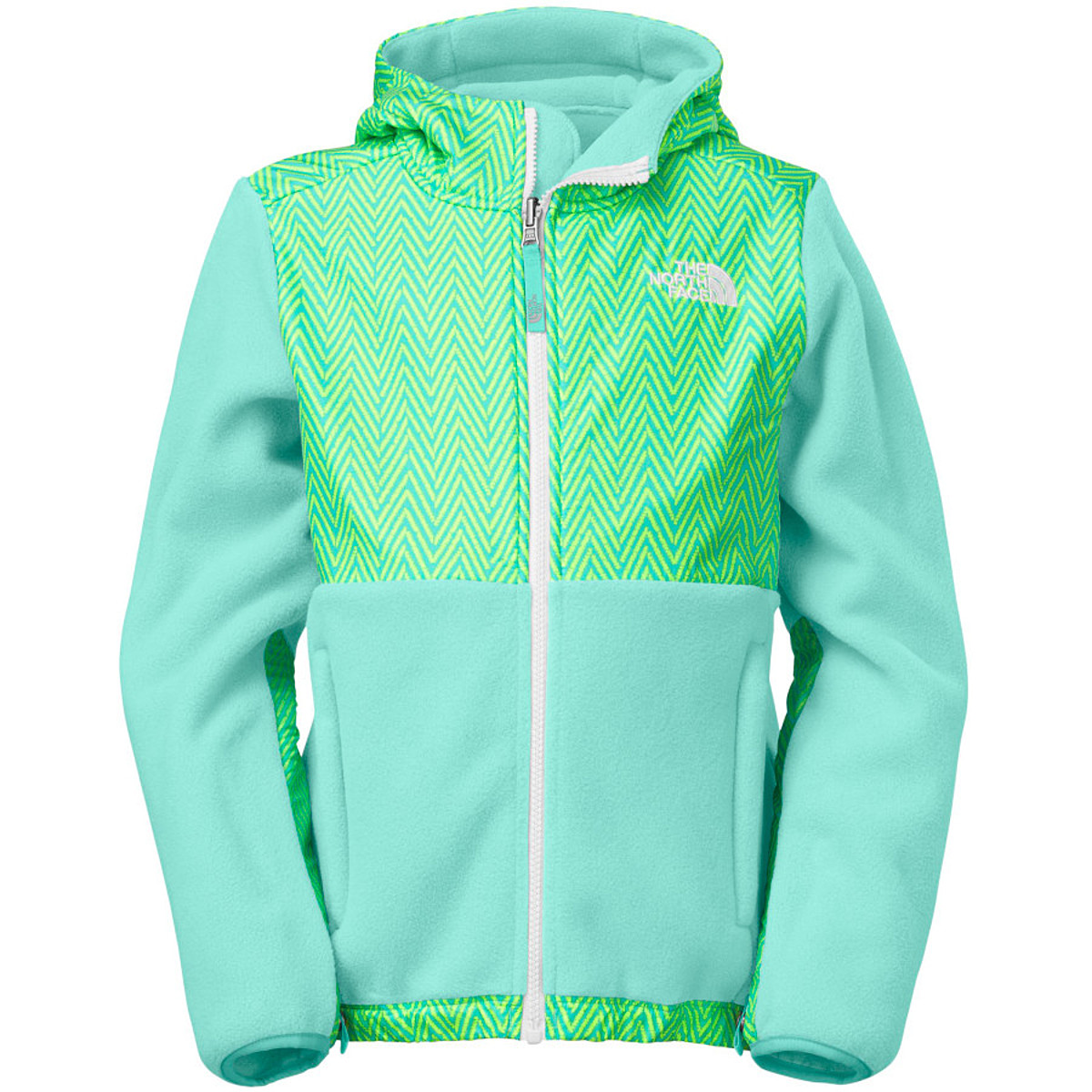 photo: The North Face Girls' Denali Hoodie fleece jacket
