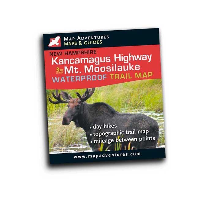 Map Adventures Kancamagus Highway & Mt. Moosilauke Waterproof Trail Map