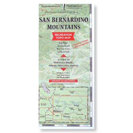 Fine Edge San Bernardino Mountains Recreation Topo Map