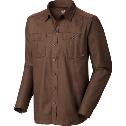 Mountain Hardwear Solid Flannel Twill Long Sleeve Shirt