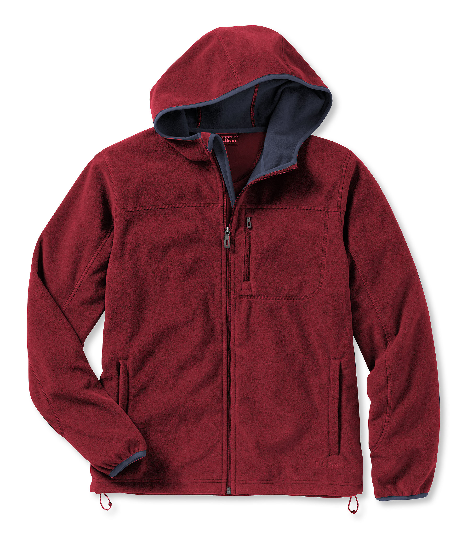 photo: L.L.Bean Wind Challenger Fleece, Hooded Jacket fleece jacket