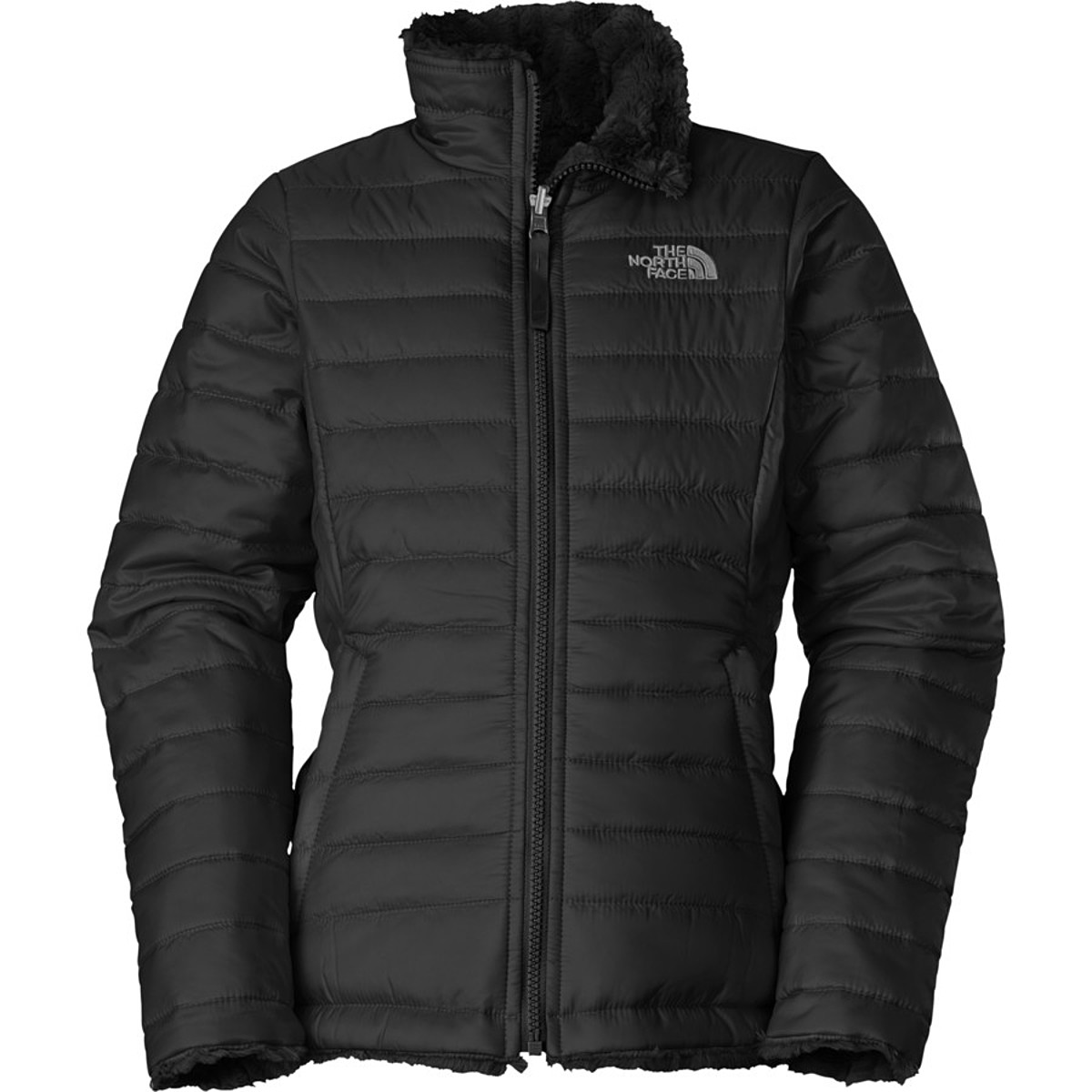 photo: The North Face Girls' Reversible Mossbud Swirl Jacket synthetic insulated jacket