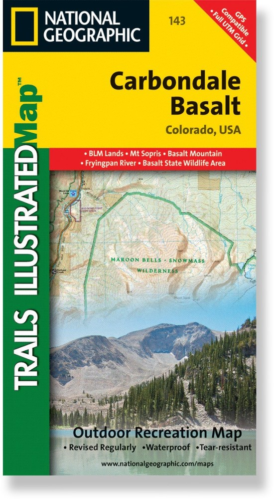 National Geographic Carbondale/Basalt Trail Map