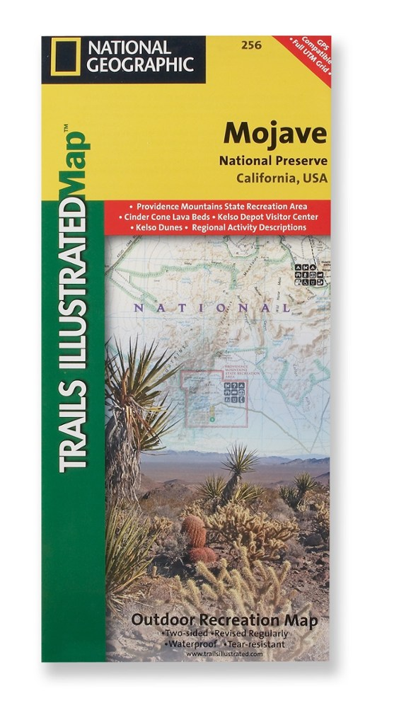 National Geographic Mojave National Preserve Map
