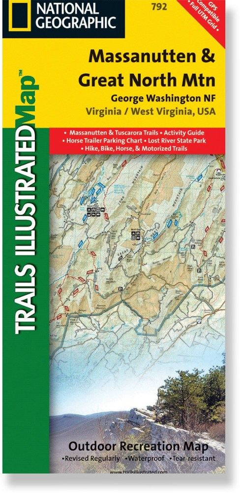 National Geographic Massanutten and Great North Mountain Map