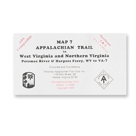 Appalachian Trail Conservancy Northern Virginia Map-North