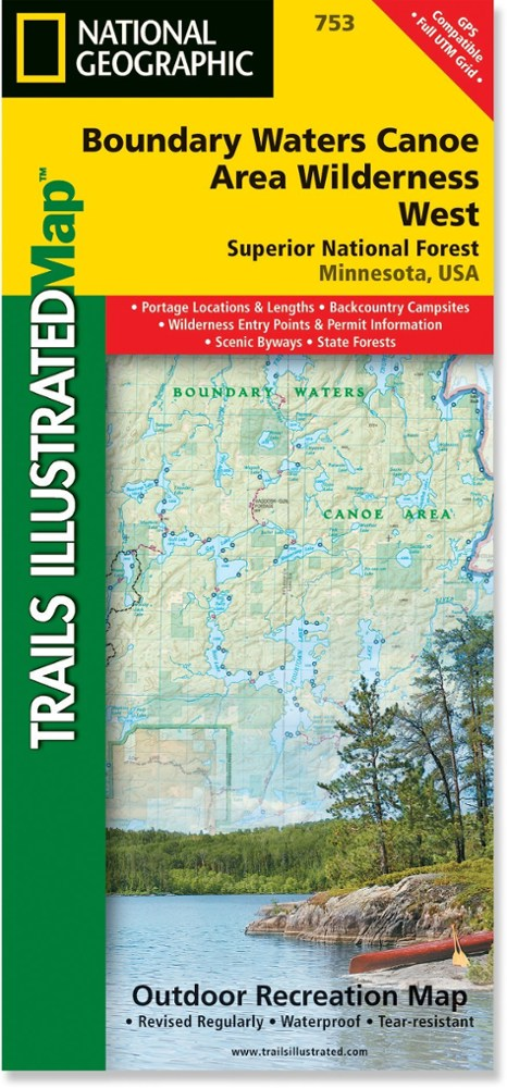 National Geographic Boundary Waters West: Superior National Forest Map