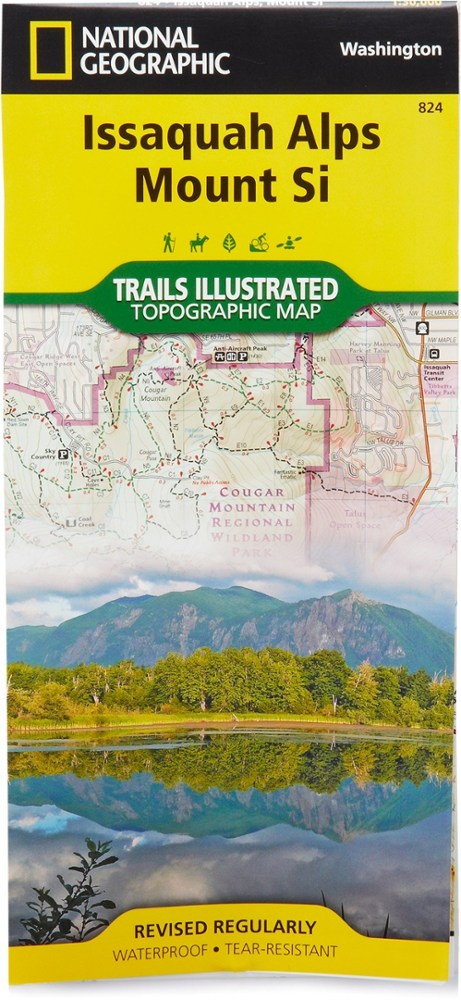 National Geographic Issaquah Alps/Mount Si Map
