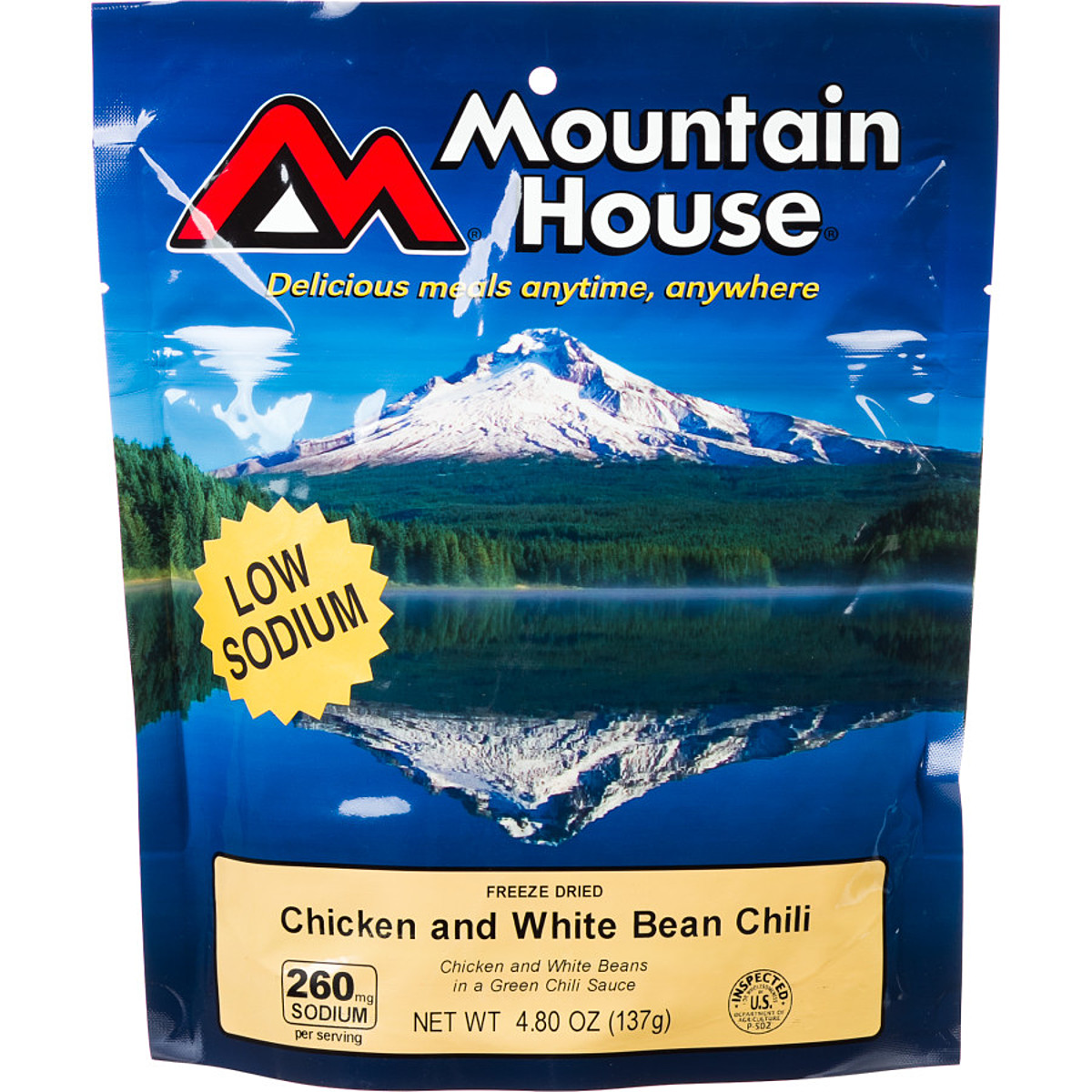 photo: Mountain House Chicken and White Bean Chili meat entrée