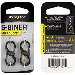 photo: Nite Ize S-Biner MicroLock backpack accessory