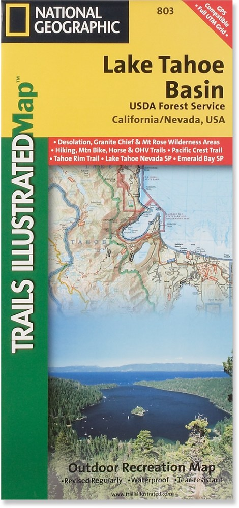 National Geographic Lake Tahoe Basin: US Forest Service Map